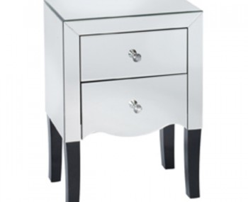 Cortese Mirrored 2 Drawer Bedside Chest