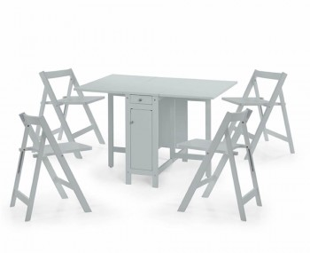 Aldwych Light Grey Gateleg Table Set