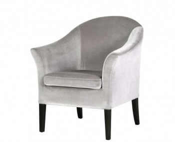 Topaz Silver Velvet Tub Chairs