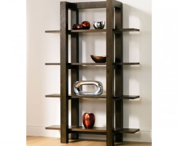 Lyon Walnut Open Shelf Unit
