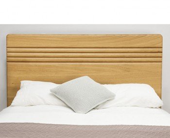 Flute Natural Oak Headboard