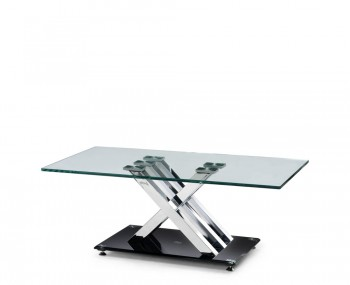 X-Frame Glass Coffee Table