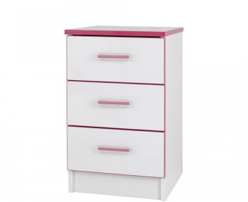 Kiddi Pink Bedside Chest