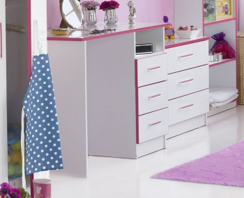 Kiddi Pink Dressing Table