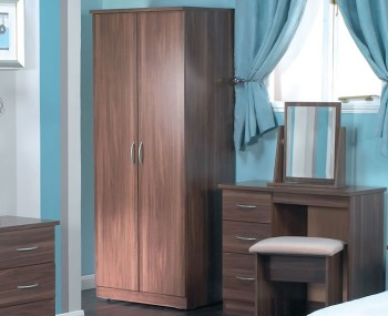 Tara 2 Door Walnut Wardrobe