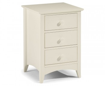 Cameo 3 Drawer Off-White Bedside Chest