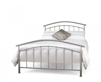 Neptune Grey Metal Bed Frame