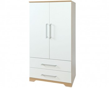 Chiltern White & Oak Effect Childrens Wardrobe