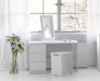 Trend Single White High Gloss Dressing Table