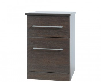 Cuban Dark Oak Bedside Cabinet