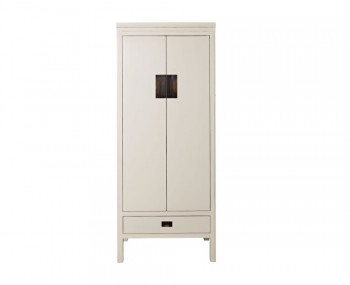 Peking 2 Door Off-White Lacquer Wardrobe