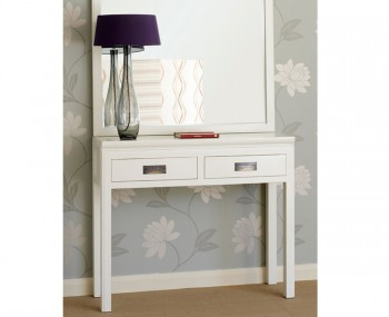 Puro stone high gloss console table - White hall table uk ...