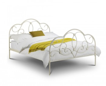 Opera Stone White Metal Bed