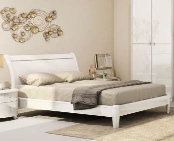 Genova White High Gloss Bed Frame