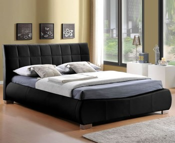 Dorado Black Faux Leather Bedstead