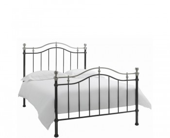 Chloe Black and Nickel Bedstead