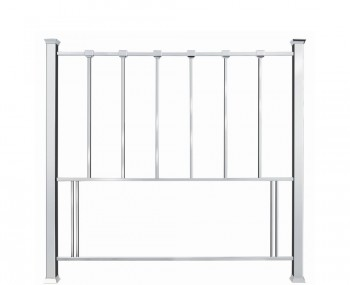 Madison Shiny Nickel Metal Headboard
