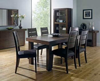 Akita Walnut Small Extending Dining Set