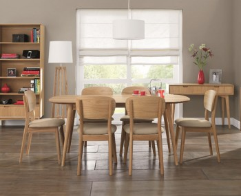 Orbit Oak Dining Table and Chairs