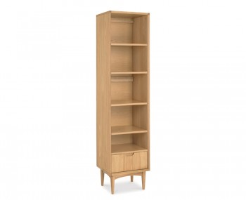 Orbit Oak Narrow Bookcase