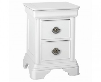 Tilly White 2 Drawer Bedside Chest