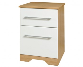 Chiltern White & Oak Effect Bedside Cabinet