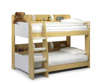 Darci Kids Maple and White Bunk Bed