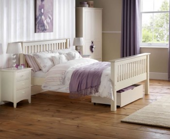 Cameo Off-White High Foot End Bed