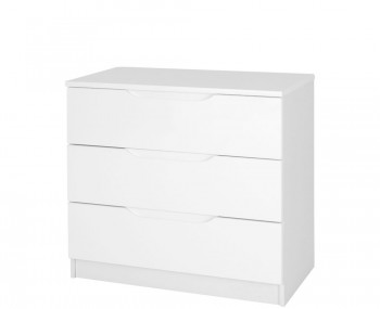 Trend 3 Drawer White High Gloss Chest