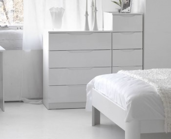 Trend 4 Drawer White High Gloss Chest