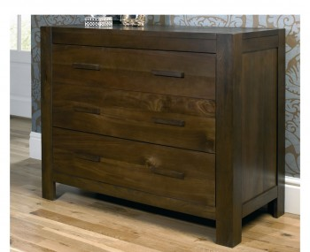 Lyon Walnut 3 Drawer Chest