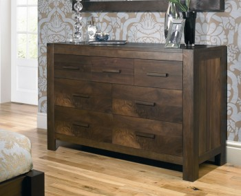 Lyon Walnut 4+3 Drawer Chest