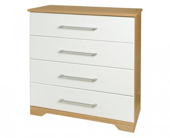 Chiltern 4 Drawer White & Oak Effect Chest