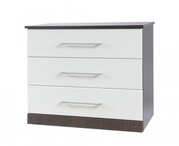 Havana White 3 Drawer Fronted Chest