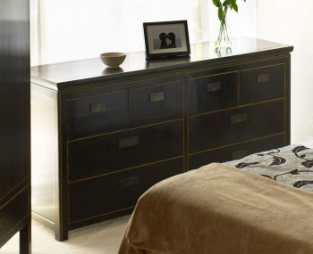 Orient 8 Drawer Black Chest