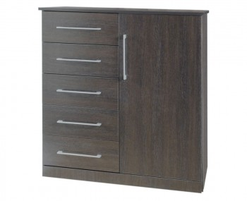 Cuban 5 Drawer Combi Dark Oak Chest