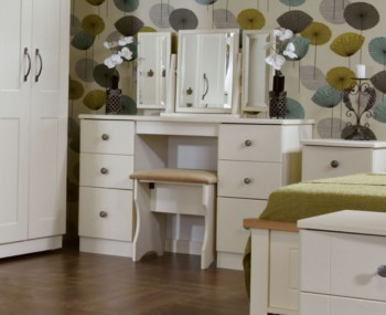 Eden Double Cream Dressing Table