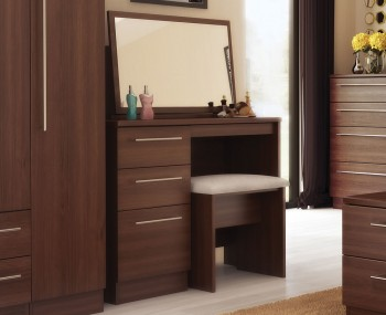 Hampstead soft grey and oak dressing table for Single dressing table