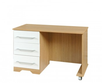 Chiltern Single White & Oak Effect Dressing Table