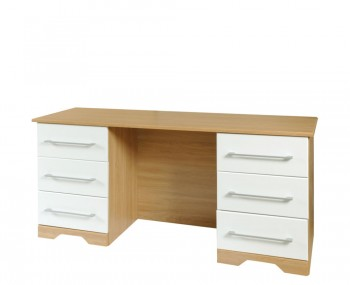 Chiltern Double White & Oak Effect Dressing Table