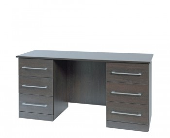 Cuban Double Dark Oak Dressing Table