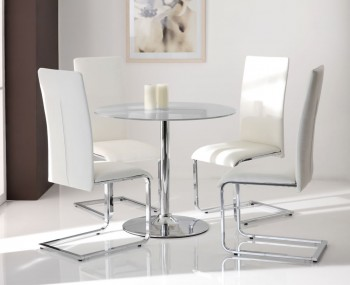 Jayden Clear Glass Kitchen Table and Chairs