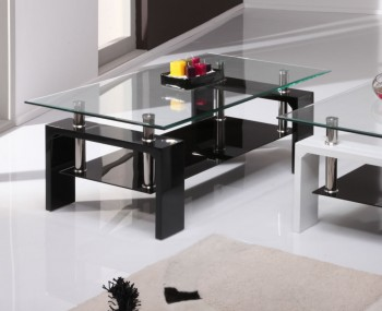 Parma Black Glass Coffee Table
