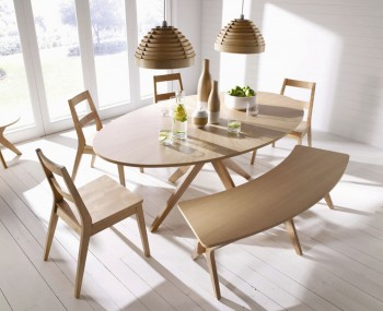 Laxa Oval Oak Dining Set