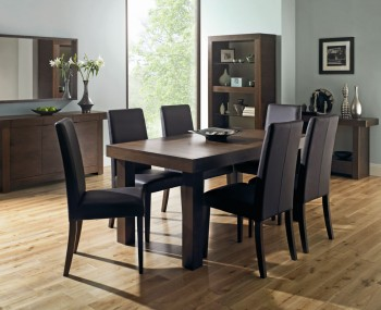 Oslo Walnut Extending Dining Table and Chairs 2f185cee5