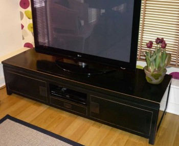 Orient Large Black Lacquer TV Unit