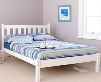 Shaker White Bed Frame