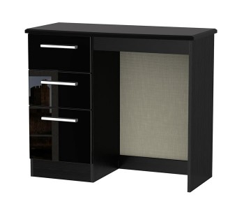 Knight Single Black High Gloss Dressing Table