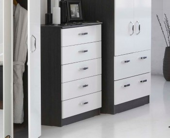 Tempo 5 Drawer High Gloss Chest