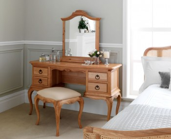 Grace Single Solid Oak Dressing Table